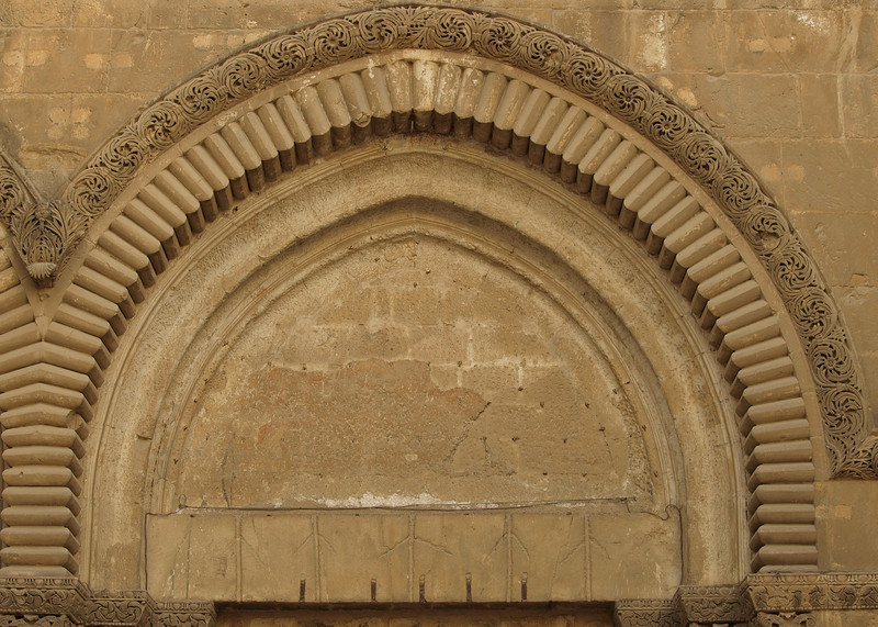 Church of the Holy Sepulchre.  The arches originally contained reliefs depicting scenes from the life of Christ (now housed in Jerusalem's Rockefeller Museum).