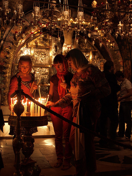 Pilgrims at the Church of the Holy Sepulchre