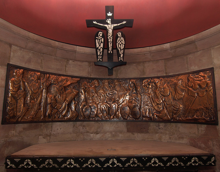 Dormition Abbey; altar donated by Ivory Coast