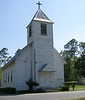 """Greater Macedonia C.M.E. Church, Alapaha.<br /> The Greater Macedonia C.M.E. Church has been called """"the best example of several African-American churches of this design in tiny Alapaha"""".  It is, in fact, the construction of white Catholics, originally  built as St. Ann Church.  The founding congregation subsequently moved to the current location of St. Ann Church.(Information courtesy of Charles Gray)"""