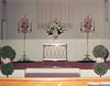 First Baptist Church decorated for wedding