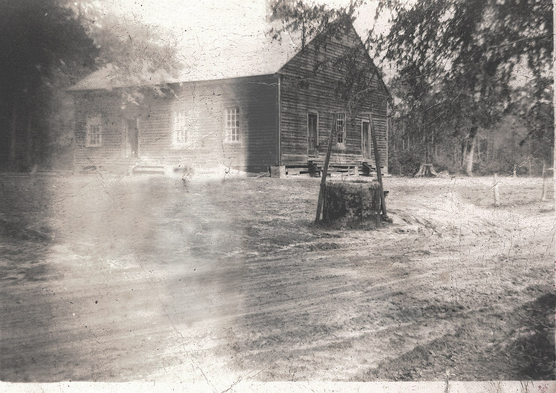 The Pleasant Primitive Baptist Church about 1930 near Futch's Ferry on the Old Coffee Road.