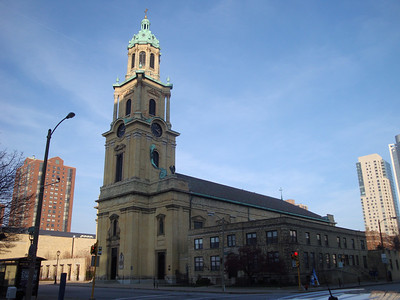 Cathedral of St. John The Evangelist. The seat of the Catholic Archdiocese in Milwaukee for over 150 years. The corner stone was layed in 1847.