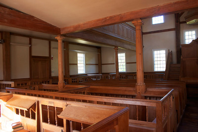 Another view of the beautiful wooden interior.