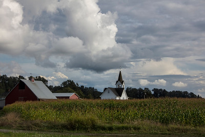 Fir-Conway Lutheran Church in Cornfield Fir Island 9-12-18