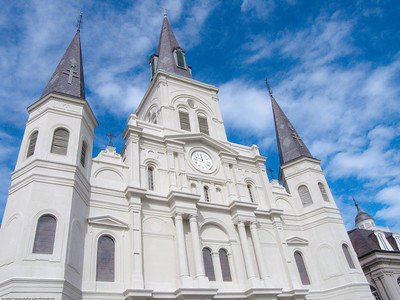 New Orleans, Cathedral-basilica of St Louis, King of France. (2 of 3)