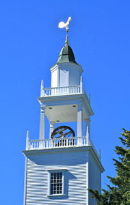 Bell tower of West Parish Meetinghouse, United Church of Christ, Barnstable, MA