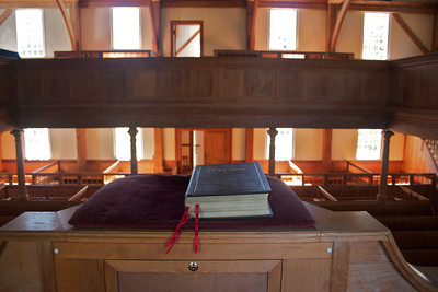 View from pulpit.