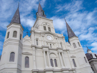 New Orleans, Cathedral-basilica of St Louis, King of France. (1 of 3)