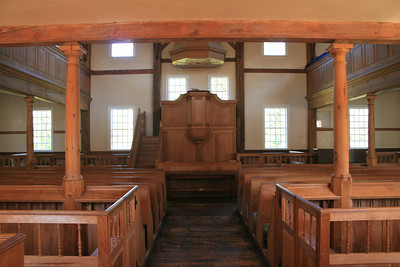 The beautiful interior of the meetinghouse.