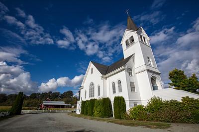 Fir Conway Lutheran Church Cornfield - Barn Background Wide Angle 9-12-18