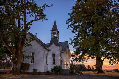 Sunrise McCabe Chapel along McCabe Chapel Rd McMinnville OR 8-29-18