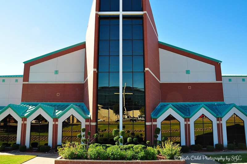 """OAK CLIFF BIBLE CHURCH""<br /> 1808 W. Camp Wisdom Road<br />  Dallas, TX<br /> <br /> Photographed from the passenger side of the vehicle."