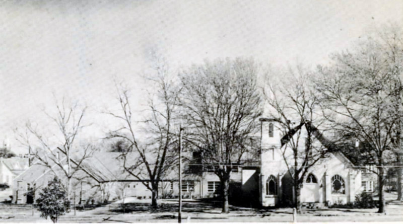Nashville United Methodist Church, on Berrien Avenue, about 1955