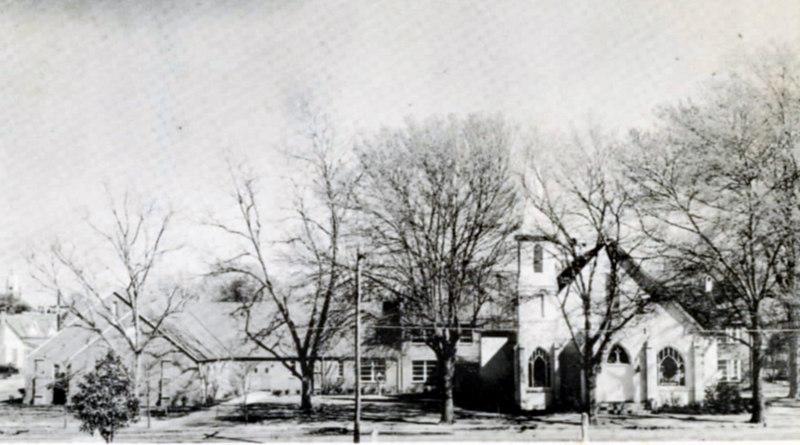 Nashville United Methodist Church, on Berrien Avenue, about 1955