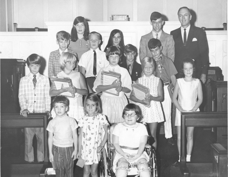 NUMC Sunday School Attendance Awards, September 1970
