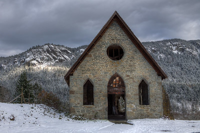 "Old Stone Butter Church – Cowichan Valley, BC, Canada Visit our blog ""Footprints In The Snow"" for the story behind the photo."