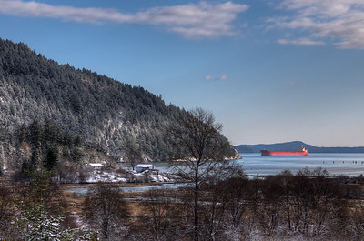 """View From Comiaken Hill at Old Stone Butter Church – Cowichan Valley, BC, Canada Visit our blog """"Footprints In The Snow"""" for the story behind the photo."""