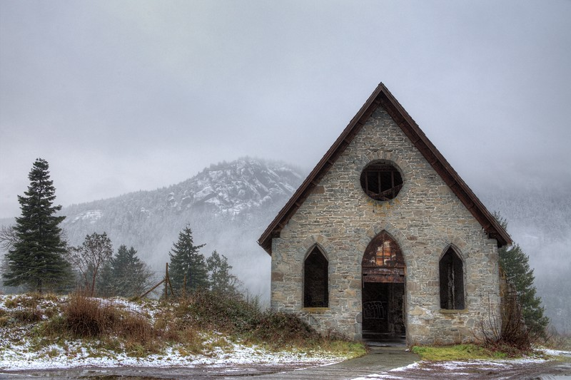 "Old Stone Butter Church – Cowichan Valley, BC, Canada Visit our blog ""The Church That Never Was And Always Will Be"" for the story behind the photo."