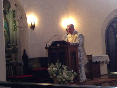Canon Moreau's 2013 Visit at St. Margaret Mary's