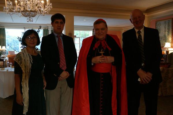 Dinner banquet with Cardinal Burke