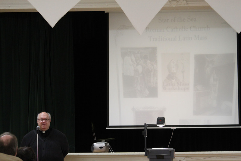Fr. Mark Mazza (Pastor) giving a warm welcome to those attending the meeting.