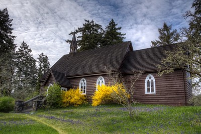 "The Anglican Parish of St. Peter, Quamichan - Cowichan Valley, Vancouver Island, BC, Canada Visit our blog ""The Hues Of Spring"" for the story behind the photo."