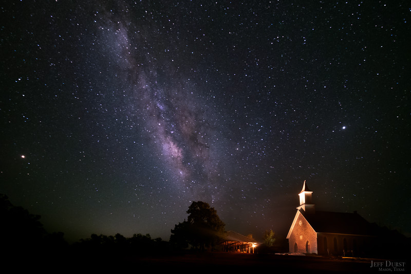 Art Church Midnight Milky Way