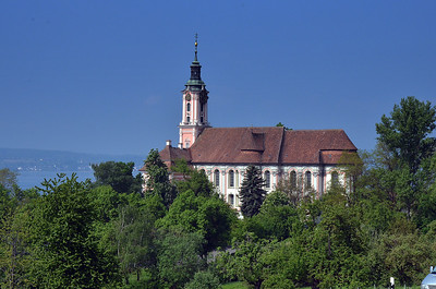 Birnau Church at Uberlingen, Germany on the shores of Lake Constance