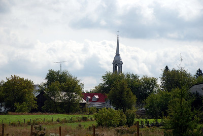 Steeple at Victoriaville, Quebec, Canada
