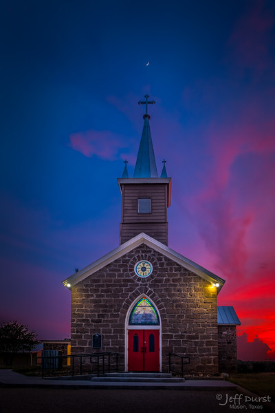 Catholic Church Mystical Sunset-1-1-180