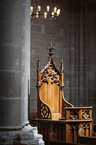 St. Pierre Cathedral wooden chair Calvin