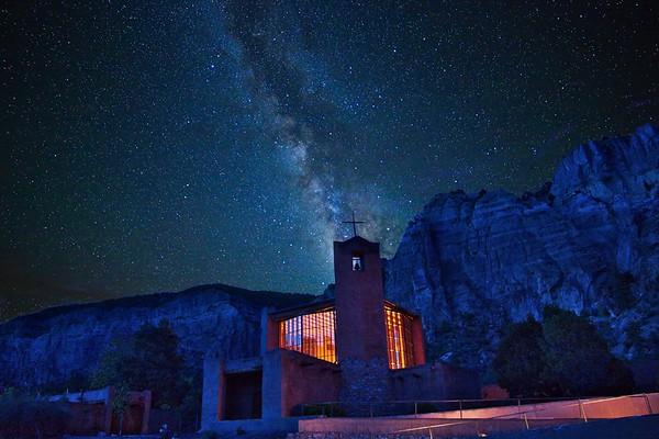Christ in the Desert Chapel & the Milky Way