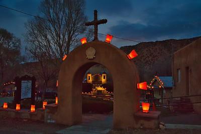 Santuario de Chimayo at Christmas