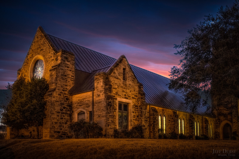Methodist Church Sunset 2018 Jan
