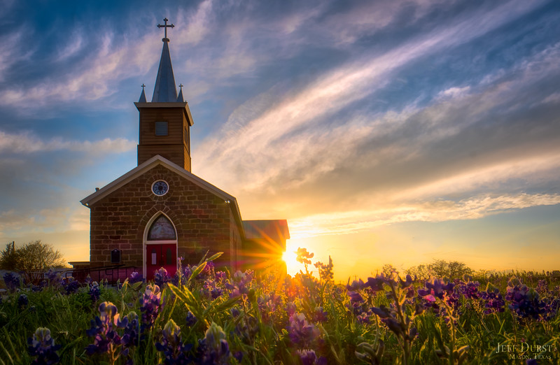 Catholic Church Bluebonnet Sunburst Simple-Edit
