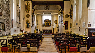 Sanctuary of St Pancras Old Church London, England