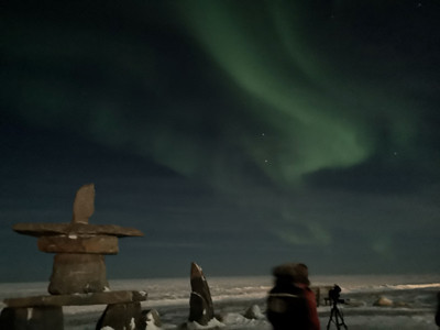 Aurora Borealis in Churchill at 9:24pm