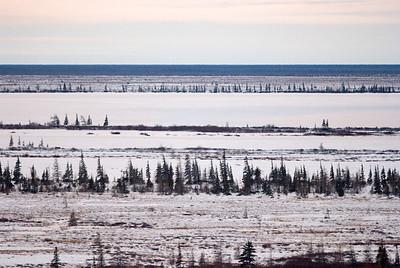 The vast tundra and Hudson Bay