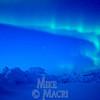 Aurora borealis (Northern lights)  over sea ice.