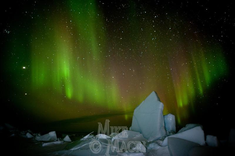 aurora borealis at Hudson Bay floe edge 2