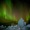aurora borealis at Hudson Bay floe edge 2