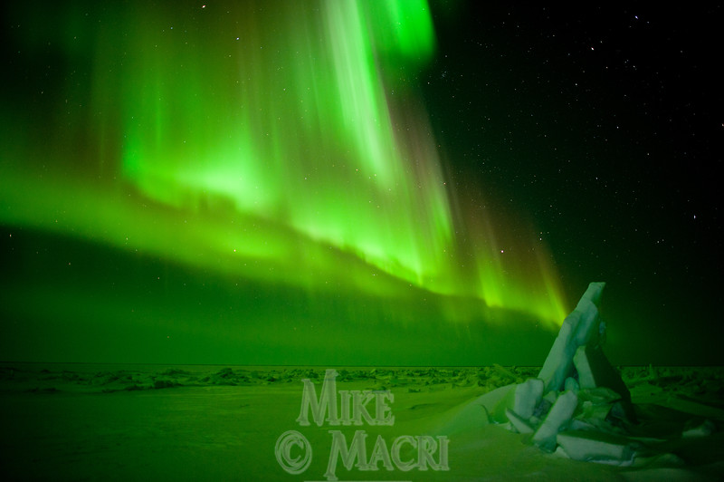 aurora borealis at Hudson Bay floe edge 5