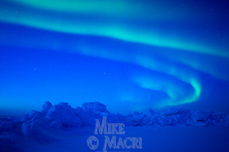 Aurora borealis over sea ice #2