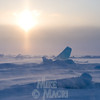 Ground drifting snow on Hudson Bay.