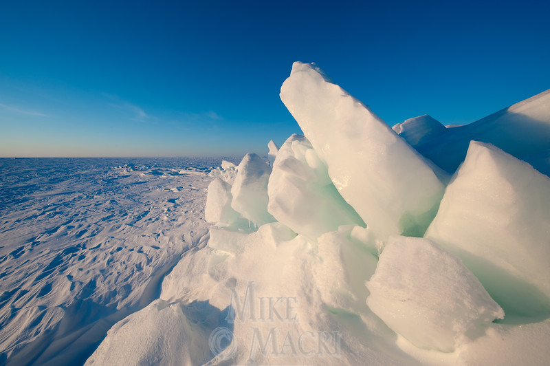 Pressure ice on Hudson Bay.