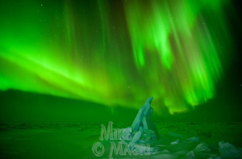 aurora borealis at Hudson Bay floe edge 8