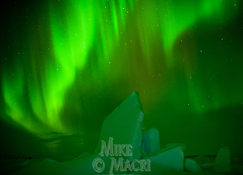 aurora borealis at Hudson Bay floe edge 12
