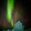 aurora borealis at Hudson Bay floe edge 3