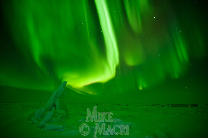 aurora borealis at Hudson Bay floe edge 10